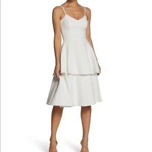 White Yasmin Tiered Dress - worn 1x